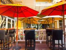 Parapluies rouges image libre de droits