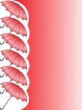 Parapluies rouges illustration stock