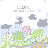 Paraplukaart Royalty-vrije Stock Afbeeldingen
