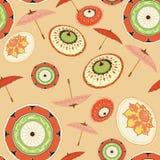 Paraplupartij op een perzikachtergrond vector illustratie