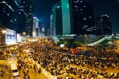 Paraplurevolutie in Hong Kong 2014 Stock Foto