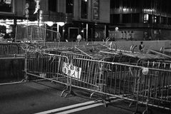 Paraplurevolutie in Verhoogde wegbaai Royalty-vrije Stock Foto's