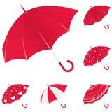 paraply vektor illustrationer