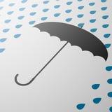 paraply för illustrationorange för bakgrund ljust materiel Royaltyfri Foto