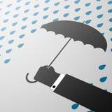paraply för illustrationorange för bakgrund ljust materiel Arkivfoto