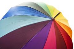 Paraply för räddningnedladdningförtitt med regnbågefärger Royaltyfri Bild