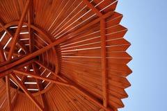 paraply för strandbegreppsferie Arkivbild
