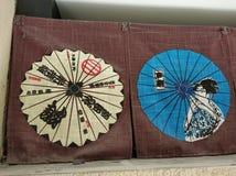 Paraply i liangzhumuseum 061 arkivfoton