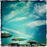 Paraply och sky Royaltyfria Bilder