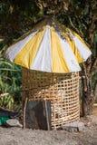 Paraply på enkel stil för hönshussunproof Royaltyfri Bild