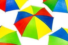 Paraply på vitbakgrund Royaltyfri Foto
