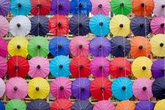 Paraply som göras av papper/tyg. Konster Royaltyfri Bild