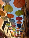 Paraplyberättelse på himlen arkivbild