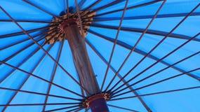 Paraplyblått Royaltyfri Foto