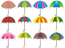 Paraplydesignuppsättning Royaltyfri Bild