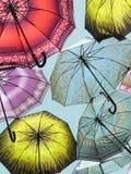Paraplyer i himlen royaltyfria foton