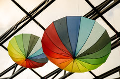 Paraplyer - konst Arkivfoto