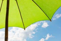 Paraplyer med himmelbakgrund Royaltyfria Foton