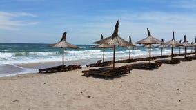 Paraplyer på stranden Royaltyfri Bild