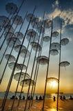 Paraplyer Thessaloniki royaltyfri bild
