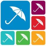 Paraplyet skissar symbolen Arkivfoto