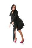 paraplykvinna Fotografering för Bildbyråer