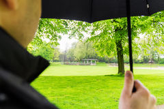 Paraplynaturen parkerar rymligt Arkivfoto