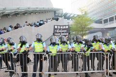 Paraplyrörelse i Hong Kong Arkivbilder