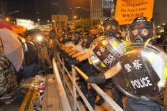Paraplyrörelse i Hong Kong Royaltyfri Foto