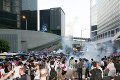 Paraplyrörelse i Hong Kong Royaltyfria Foton