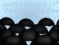 Paraplyregn Royaltyfria Foton