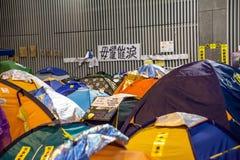 Paraplyrevolution i Hong Kong 2014 Royaltyfri Bild