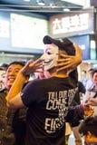 Paraplyrevolution i Hong Kong 2014 Royaltyfri Foto