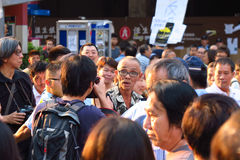 Paraplyrevolution i Mong Kok Royaltyfri Foto