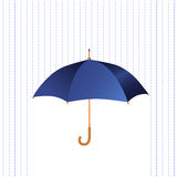 Paraplysymbol med regn Vektor Illustrationer