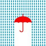 Paraplysymbol också vektor för coreldrawillustration Arkivbild