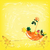 paraplytappning Royaltyfri Fotografi