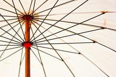 paraplywhite Royaltyfri Bild