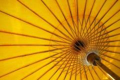 paraplyyellow Royaltyfri Foto