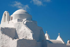 Paraportiani célèbre d'église sur l'île de Mykonos photos stock