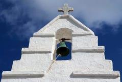 Paraportiani grekisk ortodox kyrka i Mykonos, Grekland Arkivfoto
