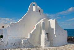 Paraportiani Kirche auf dem Mykonos Stockbild