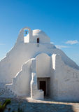 Paraportiani Kirche auf dem Mykonos gegen Himmel Lizenzfreie Stockbilder