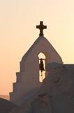 paraportiani panagia церков стоковое изображение rf