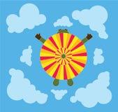 Paraquedas de cima de Imagem de Stock