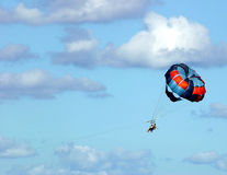 Parasail. A parasail in the sky Royalty Free Stock Image