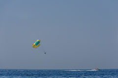 Parasail and boat Royalty Free Stock Image