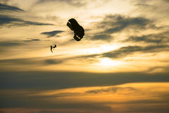 Parasail. Play during sunset whit the nice sky Royalty Free Stock Photos