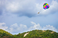 Parasail sport and recreation in Thailand Royalty Free Stock Images
