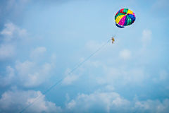 Parasail sport and recreation in Thailand Stock Image
